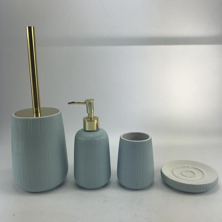 Luxury Hotel Decorative Ceramic Accessories Bathroom Sets