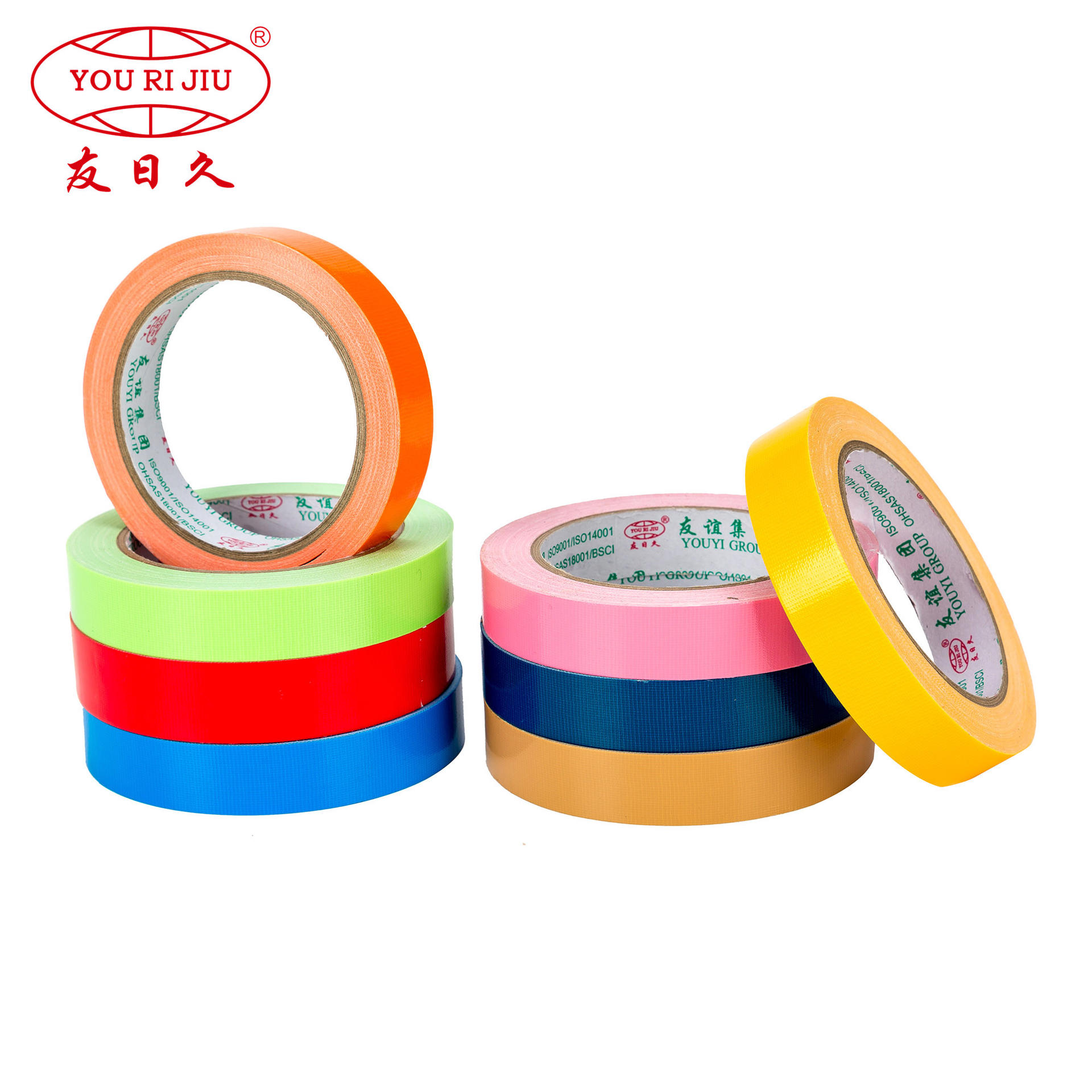 Wholesale cloth mesh hot resistant cheap printed duct tape jumbo roll