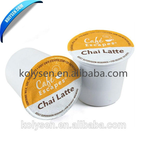 Aluminum lidding foil or film for yogurt cups and bottles laminated with PP, PS, PE.