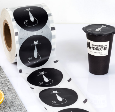 Custom printed sealing film packaging for plastic cup in china