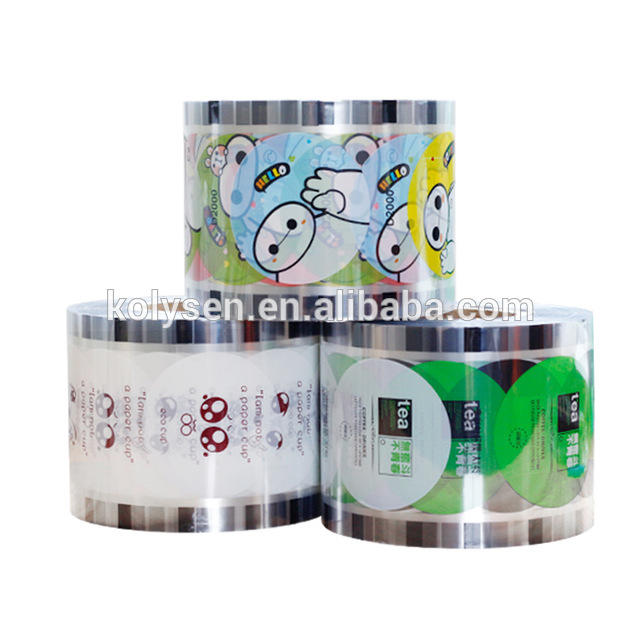 Custom water resistance bubble tea cup sealing film Jelly Cup Sealing Roll Film China supplier