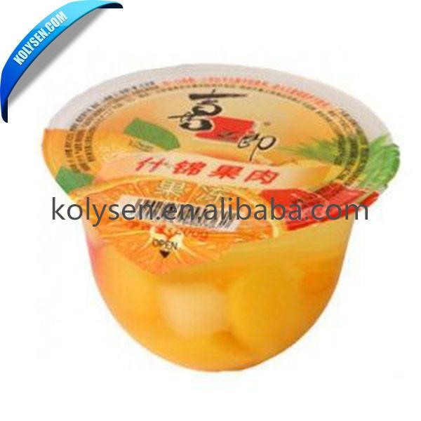 yogurt packing plastic cup Peelable Lidding sealing film