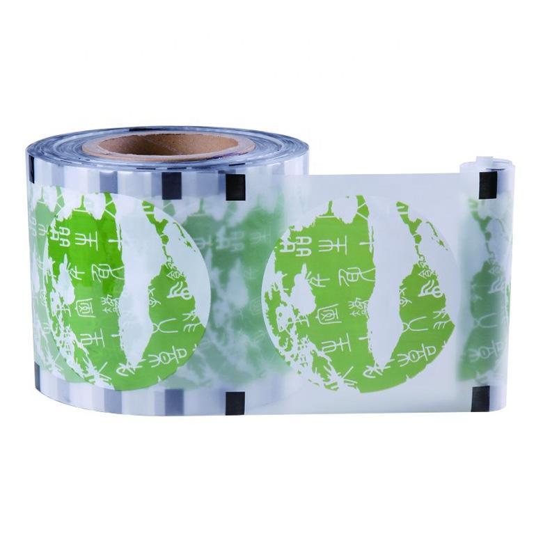 Printed peelable plastic cup sealing film suppliers