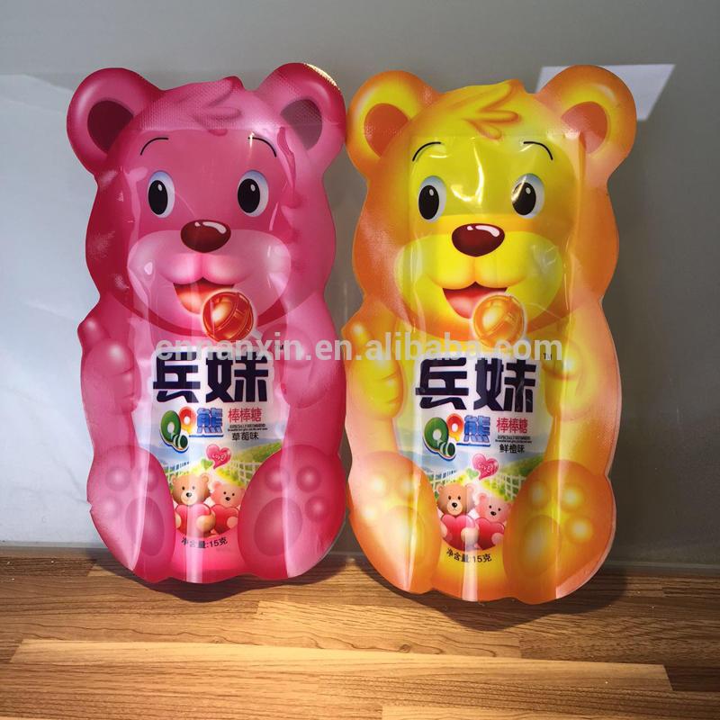Eye-catching design lollipop packaging sachets pouch