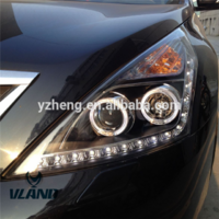 VLAND factory accessory for Car Headlight for TIANA LED Head light for 2008 2009 2010 2011 2012with angel eyes+LED DRL