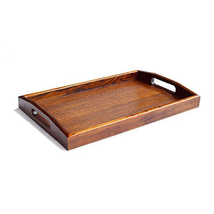 Custom size Simple Useful bamboo wood serving tray food tray