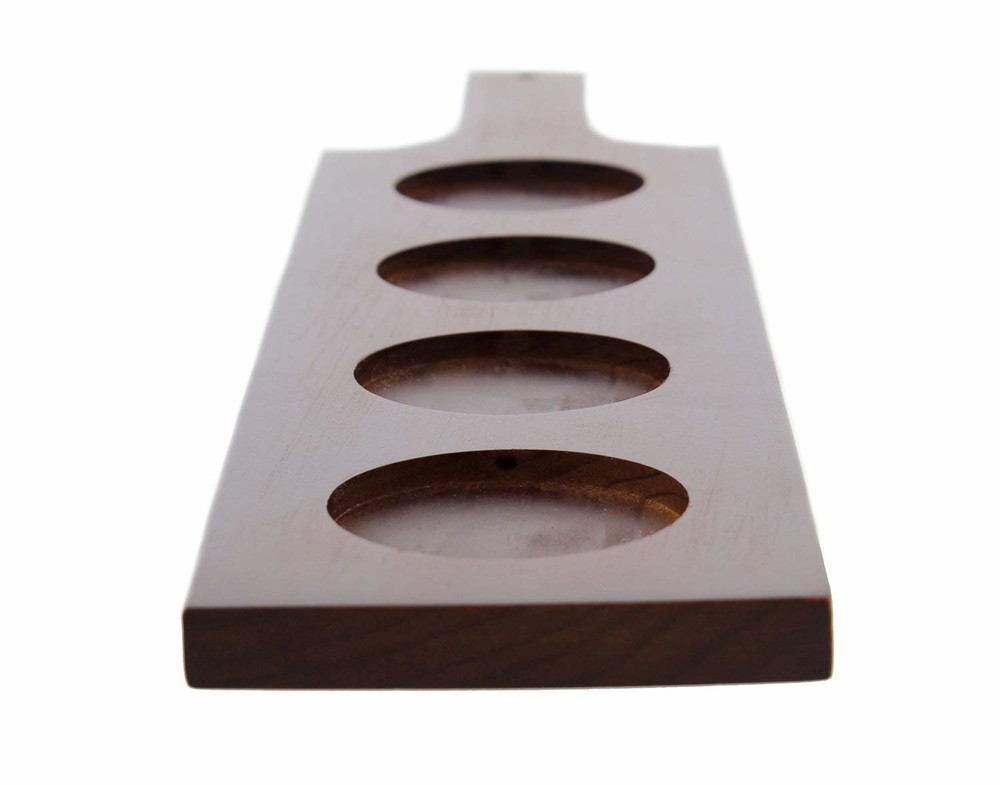 Customized color wine beer wooden tray cup holder for sale