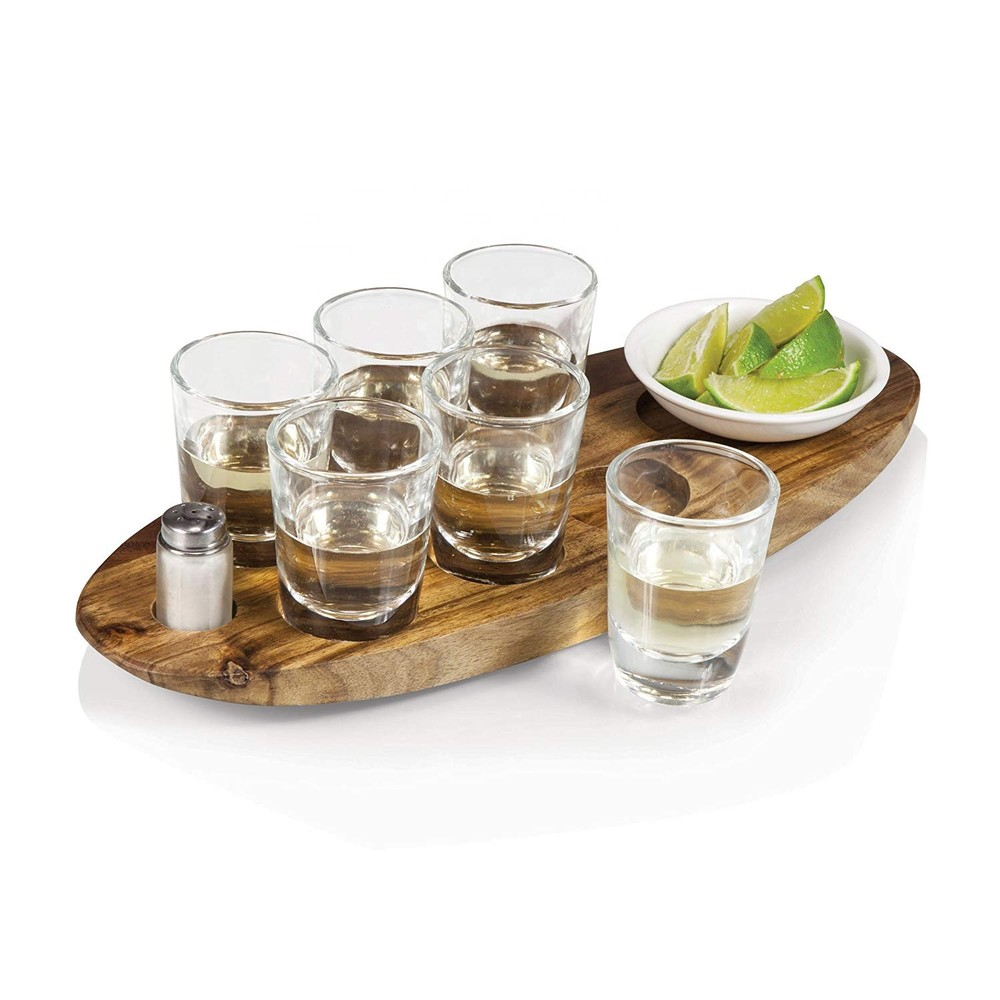 Custom shot glass serving tray with cheap price unique style