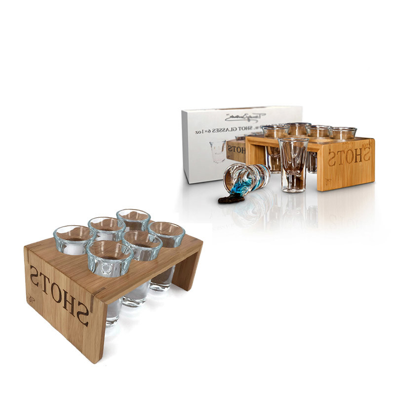 Directly selling wooden shot glass tray for bar
