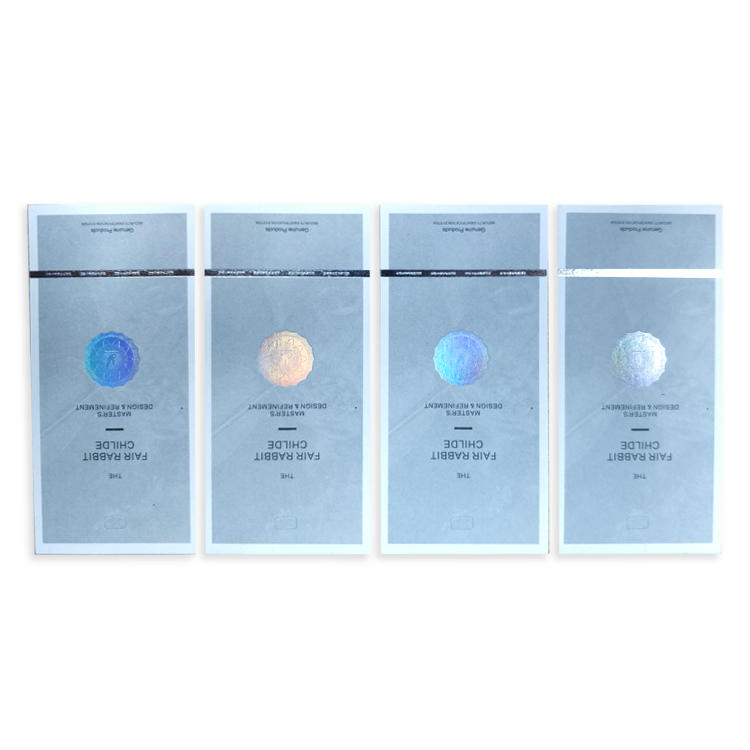 Custom Variable Data Anti-counterfeiting Hot Stamping Holographic Scratch Off Cards