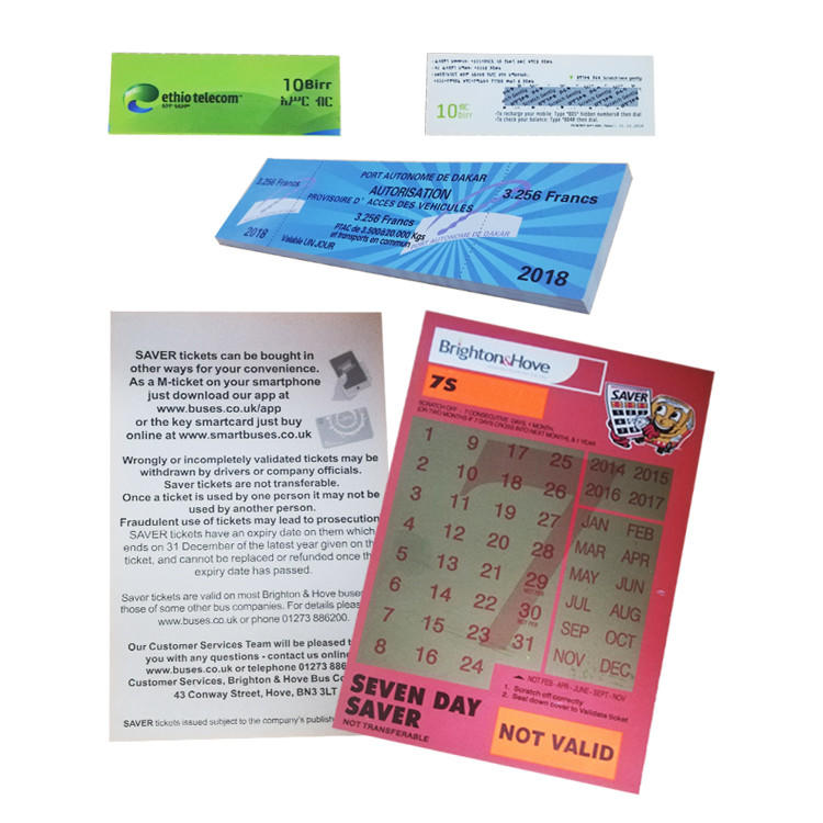 Printing Ticket Lottery Scratch Card Voucher Paper Scratch Off Card Adult Win Card Game Custom Scratch Off Lottery Tickets