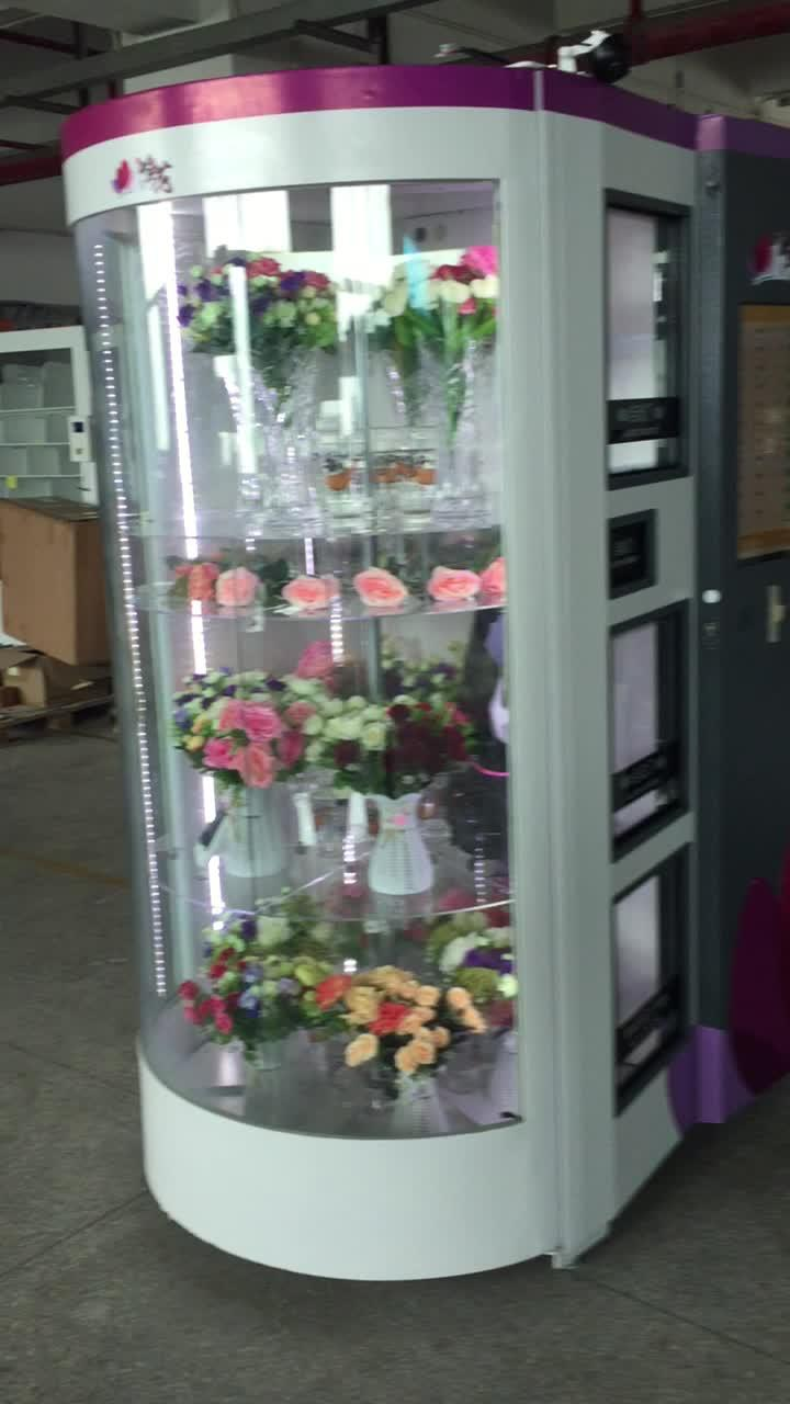 fresh flower vending machine with cooling