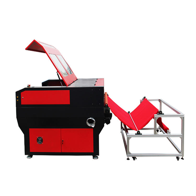 2017 hot sale Co2 laser engraving machine prices , auto feeding laser cutting machine for fabric leather , textile , garment