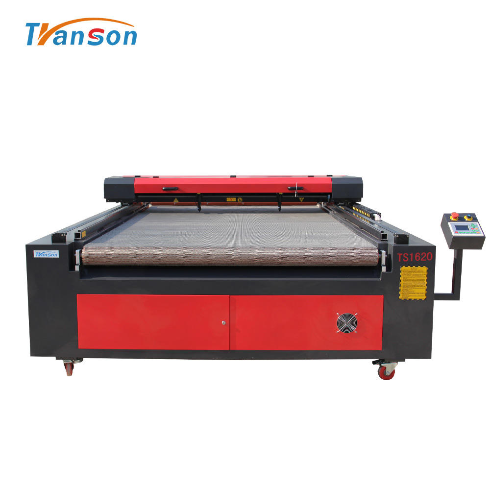 CNC 1600*2000mm laser fabric leather carving cutting machine price safety cutter 90W laser glass tube