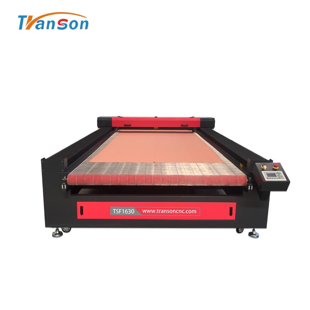 flatbed laser engraver laser carving machine 100 watt reci laser cutter engraver 1630 for sportswear garment