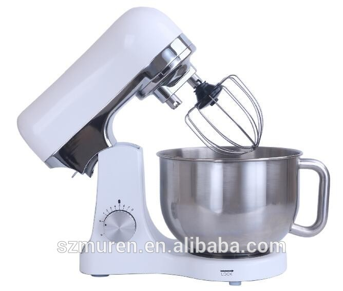 GS EMC RoHS Approved kitchen stand mixer with double dough hooks