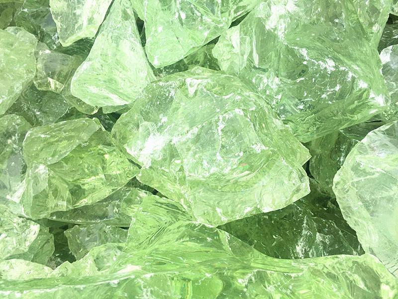 Crushed Glass Rocks Green