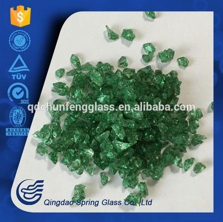 Trade Assurance Green Decorative Crushed Glass