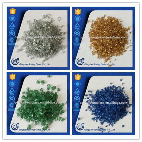 New Design Colored Crushed Glass for Decoration
