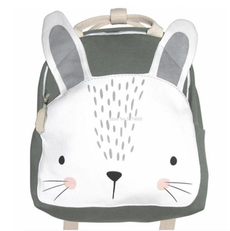 mochilas Children Backpack Animals Design Girl Boys Backpack Toddler Kids School Bag Kindergarten Cartoon Rabbit Butterfly lion print Bag