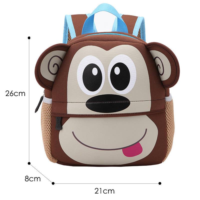 mochilas 2020 New Children Backpacks 3D Giraffe Design Girl Boys School Bags Toddler Kids Neoprene Schoolbag Kindergarten Cartoon Pouch