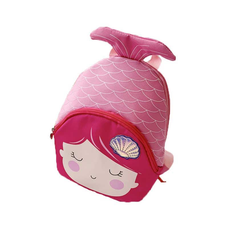 mochilas Cartoon mermaid child girl backpack fishtail cute lovely mini school bag Kindergarten Schoolbag fashion shoulder bag For Kids