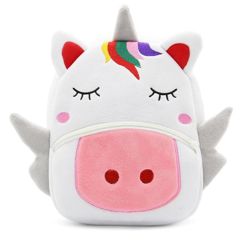 mochilas Cartoon Rainbow Unicorn Kids School Bags for Girls Soft Plush Kids Bag Kindergarten Toddler Children School Backpack for boys
