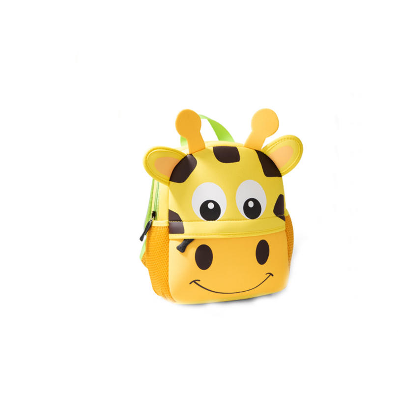 mochilas 2020 New Children Backpacks 3D Giraffe Design Girl Boys School Bags Toddler Kids Neoprene Schoolbag Kindergarten Cartoon Pouch