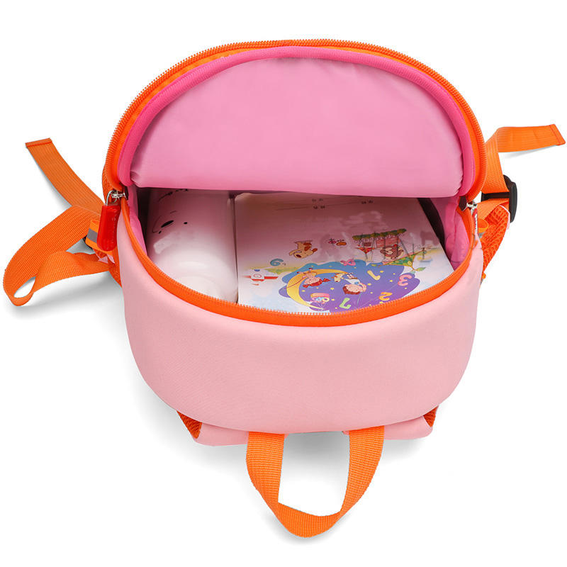 mochilas Cartoon Pink Snail Backpacks for Girls Children Fashion Cute Schoolbag Kindergarten Kids School Bags Neoprene Mochila Escolar