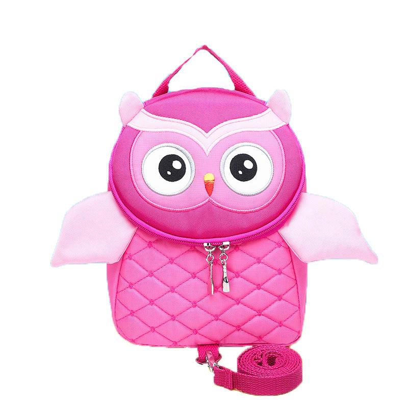 mochilas 3DCute Owl Pattern Bag For Kids Girls Boys Children Backpack Cartoon School Bag Anti-lost Kindergarten Backpacks Quality Mochila