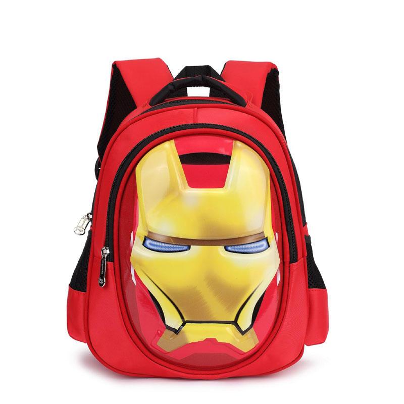 mochilas 3D iron Man Student bag Boy Girl Schoolbag Teenagers High-capacity Cartoon backpack Child waterproof Travel Backpack