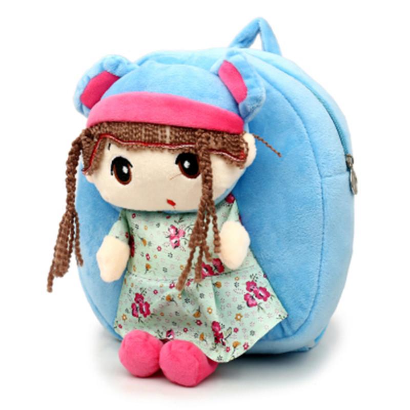 mochilas Lovely Princess Plush Backpacks Cartoon soft Kids School Bags Toys Animal Kindergarten Children Storage Doll Baby Bags 4 colors