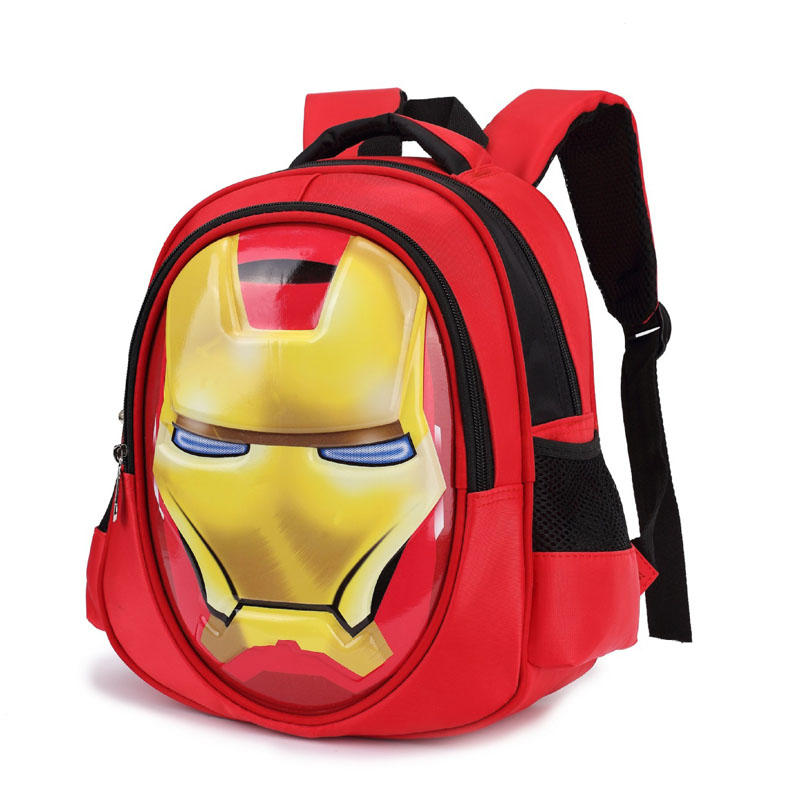 mochilas 3D iron Man Student bag Boy Girl Schoolbag Teenagers High-capacity Cartoon backpack Child waterproof Travel Backpack