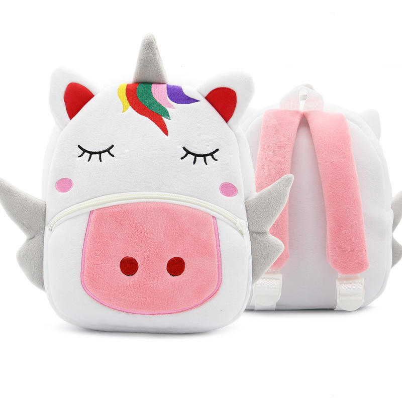 mochilas Cartoon Rainbow Unicorn Kids School Bags for Girls Soft Plush Kids Bag Kindergarten Toddler Children School Backpack for boys