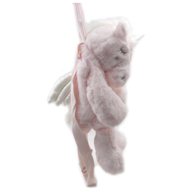 mochilas 1pc Soft Rainbow Backpack Pink Sweet Girls Daughter Gifts Backpack Unicorns Backpack Cute Plush Toys designer Unicorn Women Bag