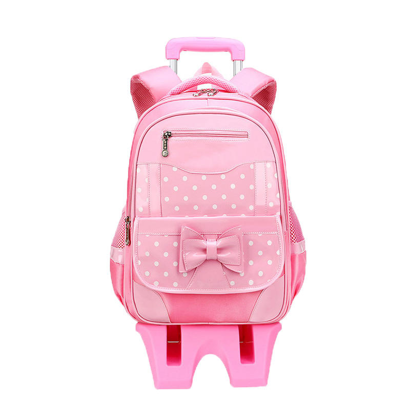 mochilas Cute Children School Bags Kids Travel Rolling Luggage Bag Trolley School Backpack Girls Child Book Bag 2/6 Wheels Schoolbag