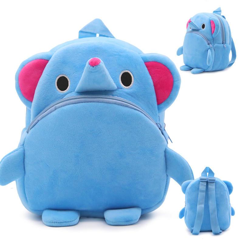 mochilas Cute Cartoon Baby Toy School Bag Animal Shape Mini Plush Backpack Kids Outdoor Travel Pack Bag New Student Kindergarten Bags