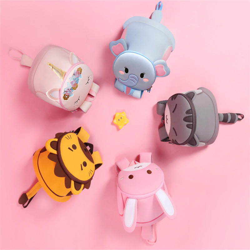 mochilas 1-3Y Plush Cartoon School Bag For Girl Kindergarten Minnie Schoolbag Cute Kids Backpacks Children's Backpack
