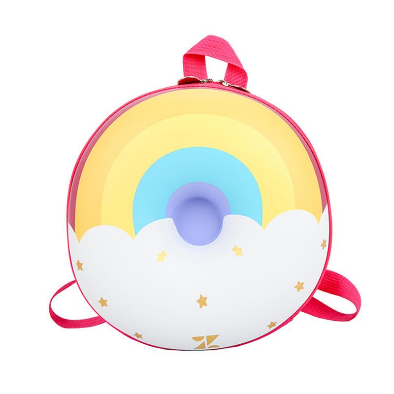 mochilas Lovely Cute New Fashion Donut Rainbow Kids Kindergarten School Book Bag Casual Backpack Vintage Bags for Children Kids Birthday