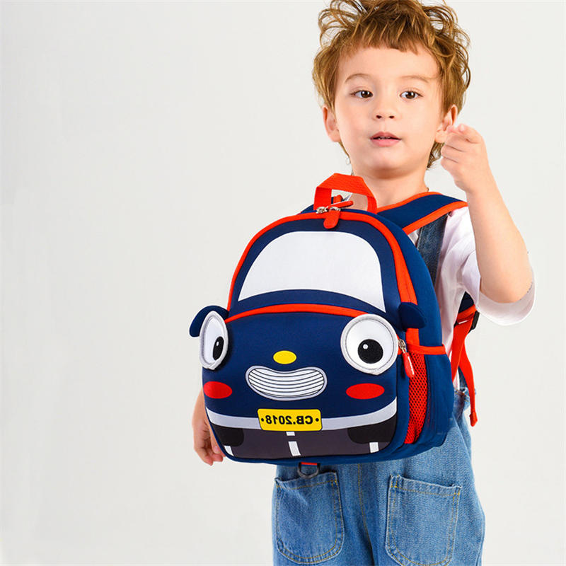 mochilas 3D Cartoon Car School Bags for 3-6 Years Old Kids Waterproof Children School Backpacks Girl Boys Schoolbag Bag mochila infantil
