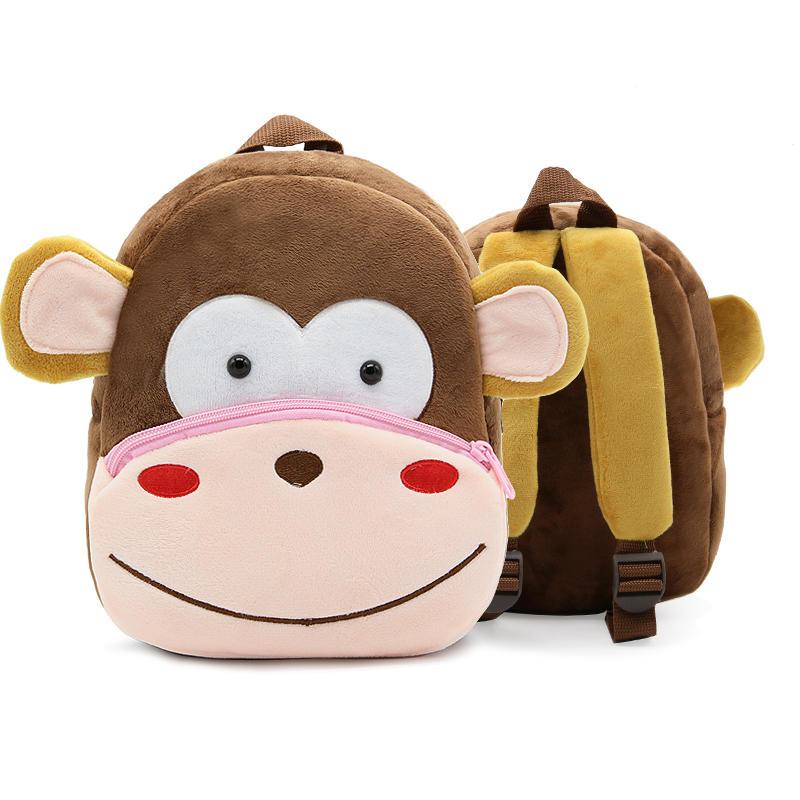 mochilas New Kawaii Stuffed Plush Kids Baby Toddler School Bags Backpack Kindergarten Schoolbag for Girls Boys 3D Cartoon Animal Backpack