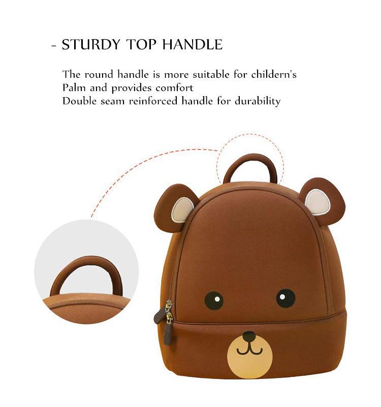 mochilas toddler backpack 3D Animal Cute backpack Girl Boys Backpack Toddler Kids Neoprene School Bags Kindergarten Cartoon Bag 2020 New