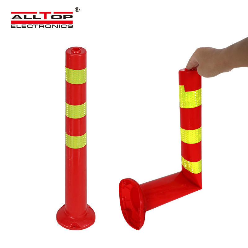 PE material Road flexible traffic delineator post warning pole