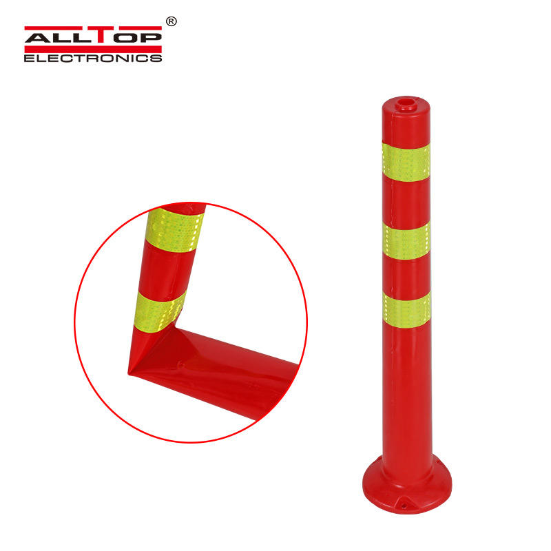 High quality warning sign traffic safety PE reflective flexible road warning post