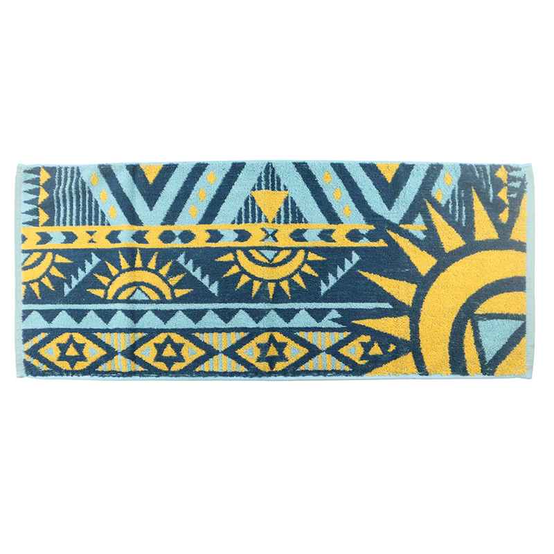 Factory Price 100% Cotton Cheap Blue Jacquard Hand Towel Face Towel