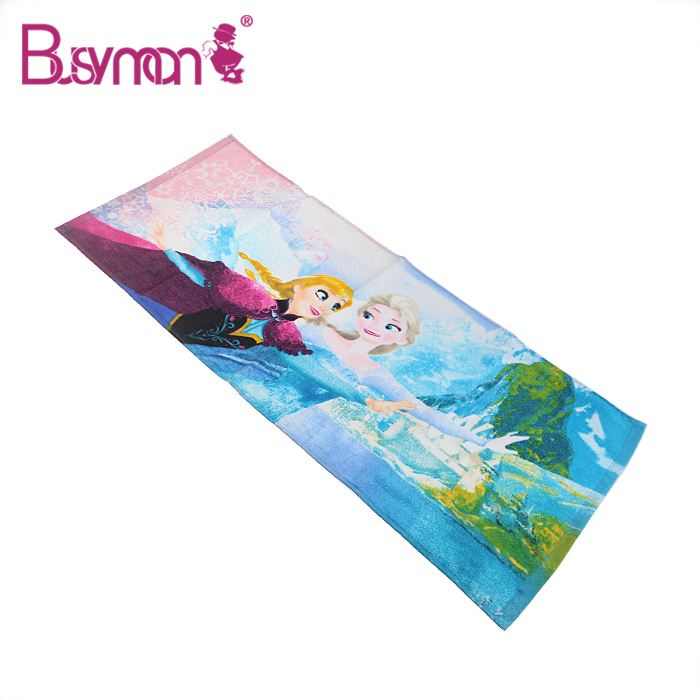 high quality customized 100% printed cotton face towel
