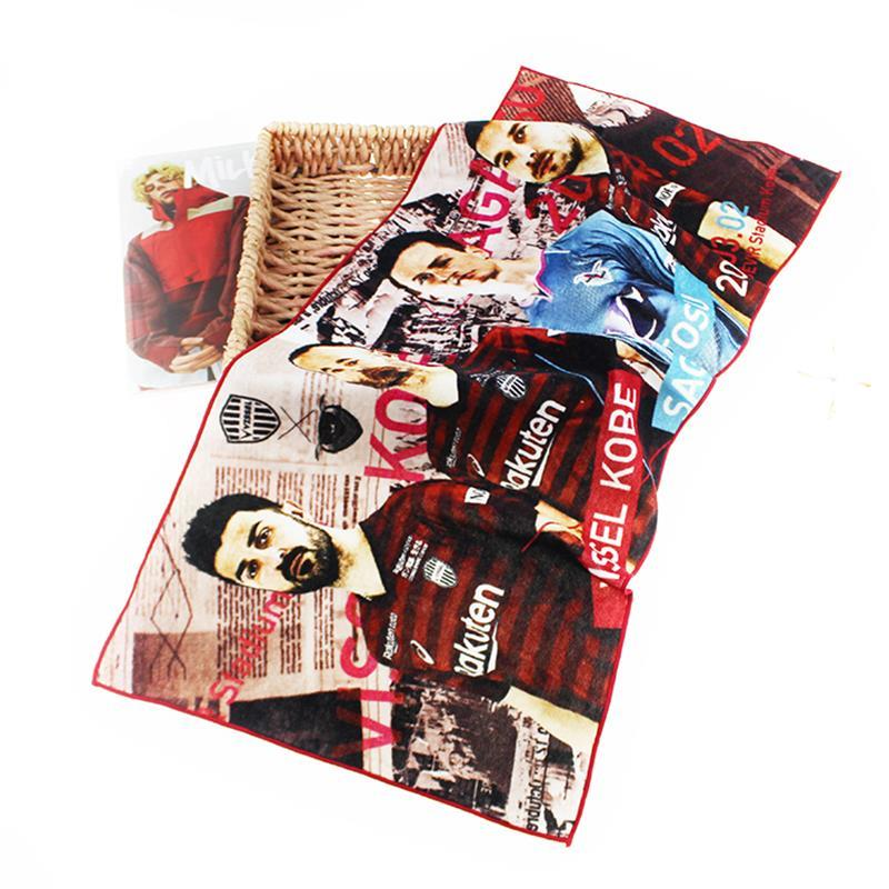 OEM PrintedCotton face Towels with Picture for TravelSwimming