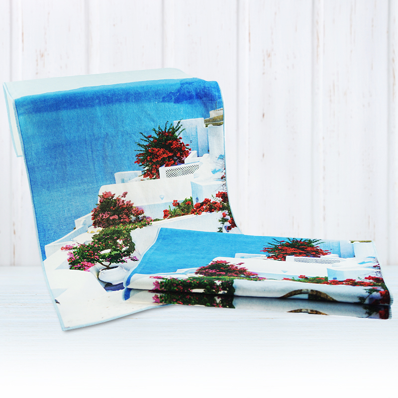 Soft Quick-drying Top Selling pattern Customized Printed 100% Cotton face Towel custom face cloth