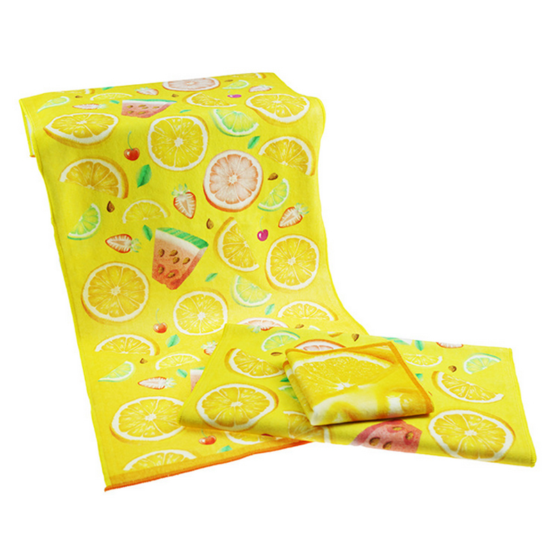 Fruit Printing 100% Cotton Velour Face Towel