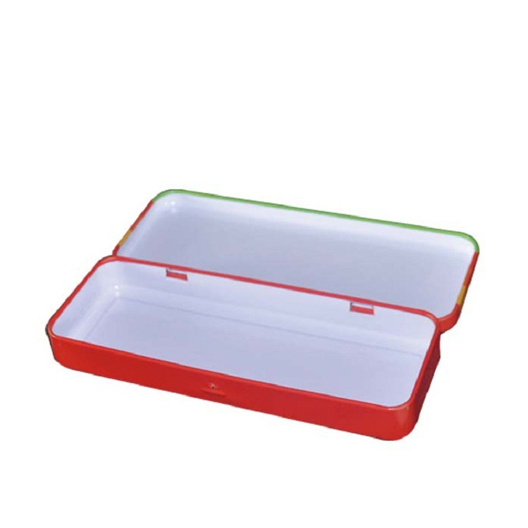 China Manufacturer custom printed pencil case makeup container Metal packing tin box